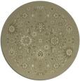 rug #1280483 | round light-green damask rug
