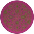 rug #1280487 | round light-green damask rug