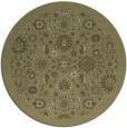 rug #1280491 | round light-green damask rug