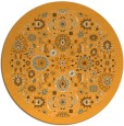 rug #1280499 | round light-orange damask rug