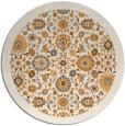 rug #1280503 | round light-orange borders rug