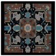 rug #1280891 | square black damask rug