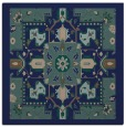 rug #1280915 | square blue damask rug