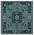 rug #1280947 | square blue-green damask rug