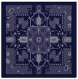 rug #1280959 | square blue-violet damask rug