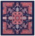 rug #1280967 | square blue-violet damask rug