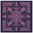 rug #1280971 | square purple damask rug
