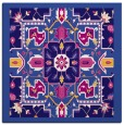 rug #1280975 | square blue-violet damask rug