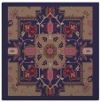 rug #1280979 | square blue-violet damask rug