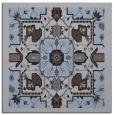 rug #1280983 | square blue-violet damask rug