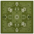 rug #1281003 | square green traditional rug