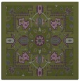 rug #1281015 | square green traditional rug