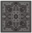 rug #1281031 | square mid-brown damask rug