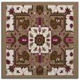 rug #1281035 | square mid-brown borders rug