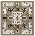 rug #1281039 | square mid-brown damask rug