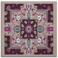 rug #1281043 | square pink damask rug