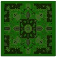 rug #1281083 | square green traditional rug