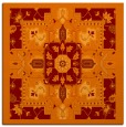 rug #1281087 | square red-orange traditional rug