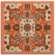 rug #1281095 | square orange damask rug