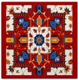 rug #1281135   square red traditional rug