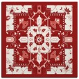 rug #1281143 | square red traditional rug