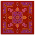 rug #1281147 | square red traditional rug