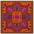 rug #1281159 | square red-orange traditional rug