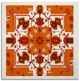 rug #1281163 | square red-orange borders rug