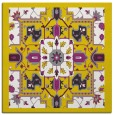 rug #1281203 | square yellow borders rug