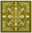rug #1281215 | square light-green damask rug