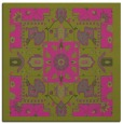 rug #1281223 | square light-green damask rug