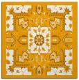rug #1281231 | square light-orange damask rug