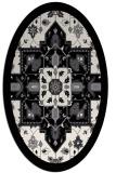 rug #1281247 | oval white borders rug