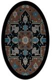 rug #1281259 | oval black borders rug