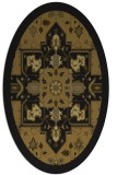 rug #1281263 | oval mid-brown rug
