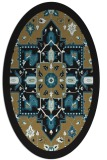rug #1281271 | oval mid-brown borders rug