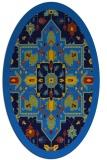 rug #1281275 | oval blue borders rug