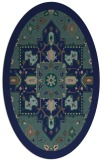 rug #1281283 | oval blue borders rug