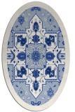rug #1281294 | oval damask rug