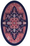 rug #1281335 | oval blue-violet borders rug