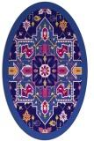 rug #1281343   oval blue-violet borders rug