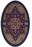 rug #1281347 | oval blue-violet borders rug