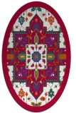 rug #1281359 | oval red traditional rug