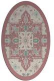 rug #1281367 | oval damask rug