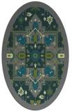 rug #1281375 | oval green traditional rug