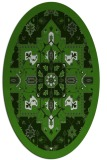 rug #1281387 | oval light-green borders rug