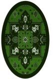rug #1281388 | oval damask rug
