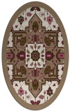 rug #1281403 | oval mid-brown borders rug
