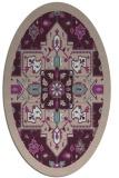 rug #1281411   oval pink damask rug