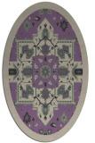 rug #1281431 | oval beige damask rug